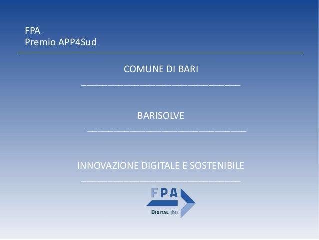 BaRisolve - Premio APP4Sud Slide 2