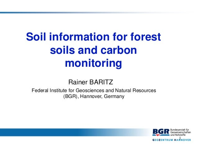 Soil information for forest soils and carbon monitoring for Soil details