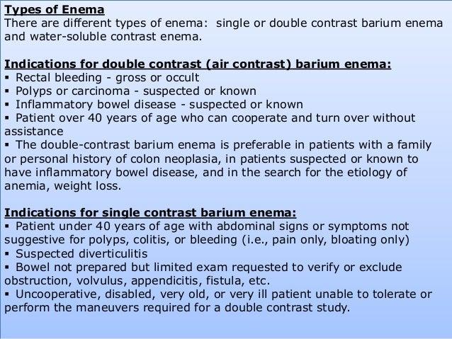 Barium Series