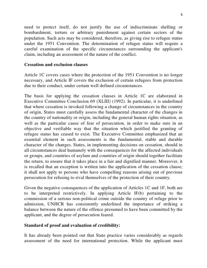 Evaluation of the Refugee definition after 60 years
