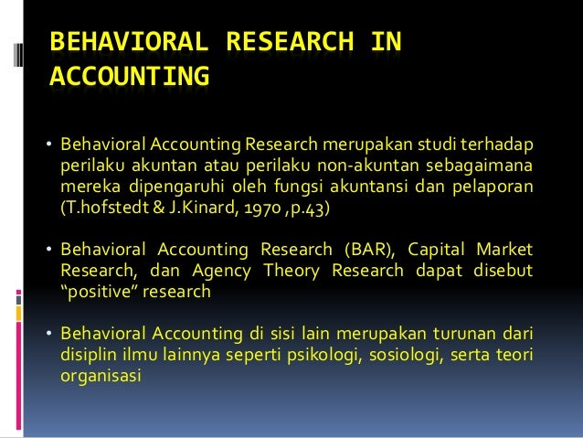 behavioral research in accounting Volume 20 advances in accounting behavioral research, 2017 volume 19 advances in accounting.