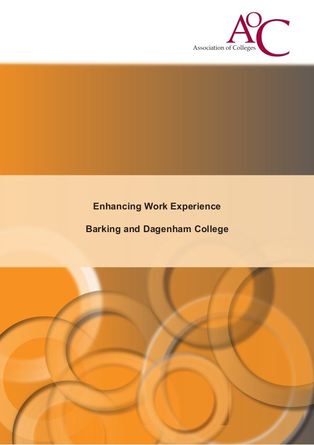 Enhancing Work Experience Barking and Dagenham College