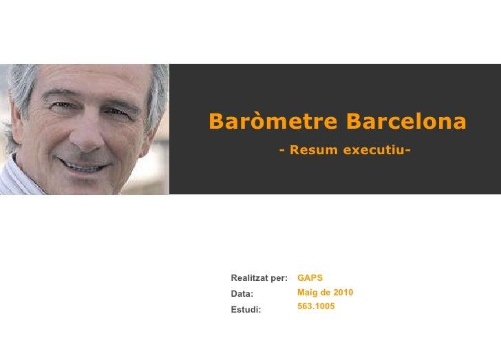 Baròmetre Barcelona - Resum executiu-