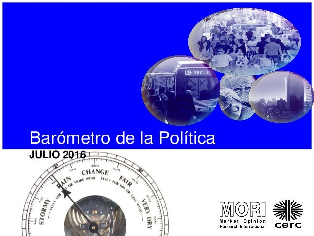 Barómetro de la Política JULIO 2016