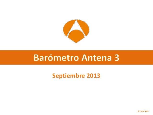 Septiembre 2013 © 2013 GAD3