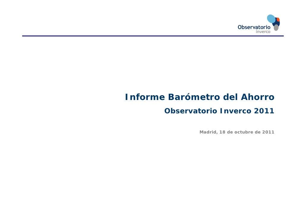 Bar metro del ahorro 2011 18 10 2011 def - Tecnicas de ahorro ...
