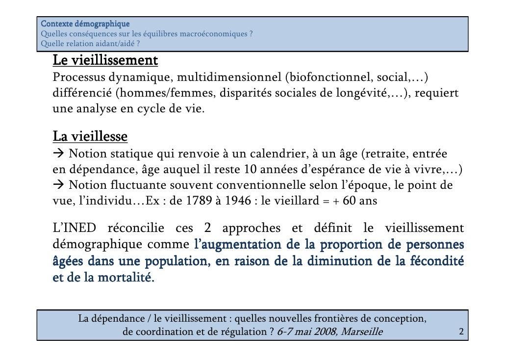 Vieillissement et dépendance : quels enjeux économiques ? Slide 2