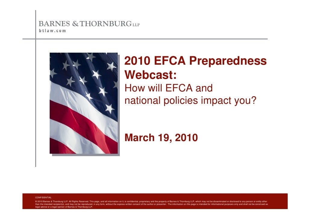 2010 EFCA Preparedness                                                                                            Webcast:...