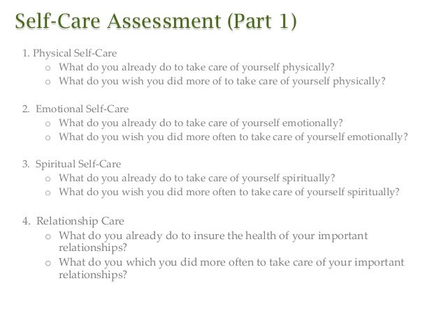 Doc638826 Self Care Assessment Helping the Helpers Workhop – Self Care Assessment