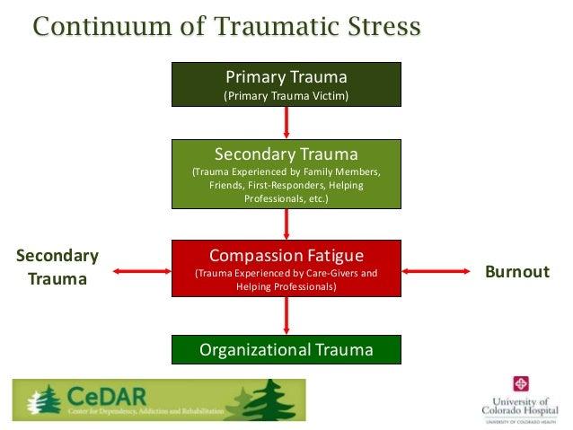 Continuum of Traumatic Stress Primary Trauma (Primary Trauma Victim)  Secondary Trauma (Trauma Experienced by Family Membe...