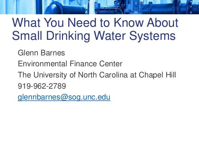 Glenn Barnes Environmental Finance Center The University of North Carolina at Chapel Hill 919-962-2789 glennbarnes@sog.unc...