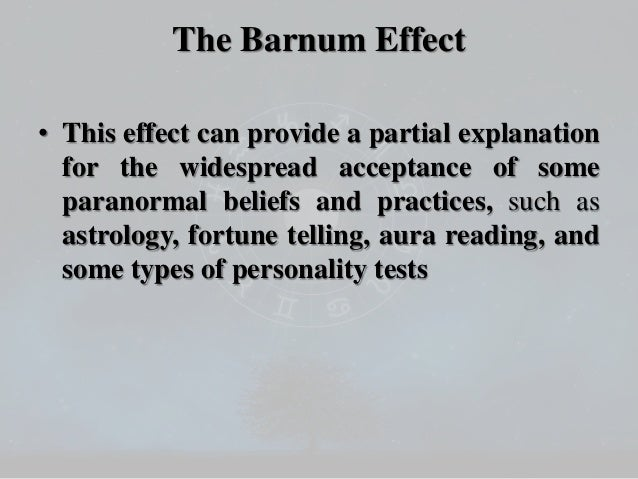 Properties of Barnum / Forer Effect Statements