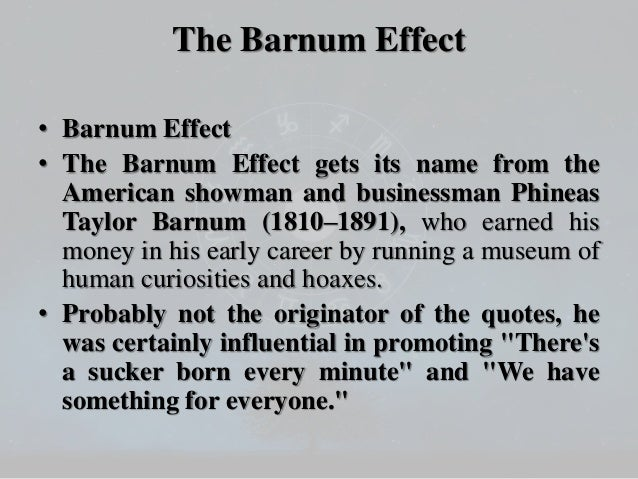 Image result for barnum effect