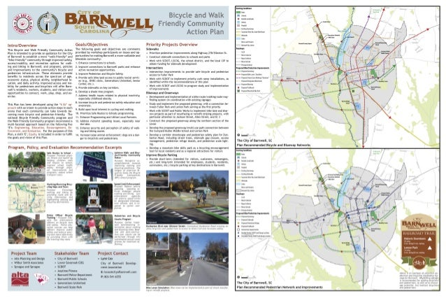 Barnwell SC Bike and Walk Friendly Action Plan Summary Poster