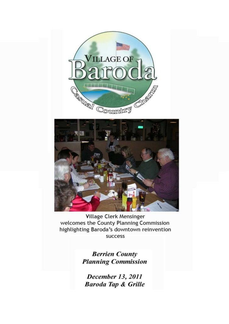 Baroda Village County Planning Commission Presentation  Brochure Dec 2011