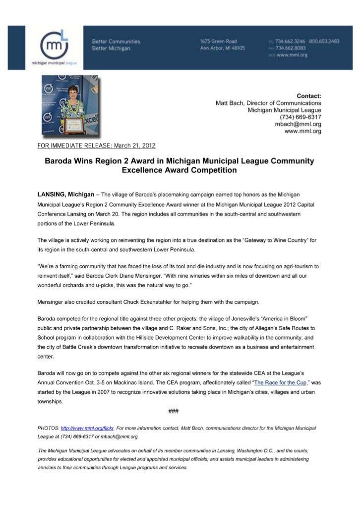 Baroda Wins Community Excellence Award