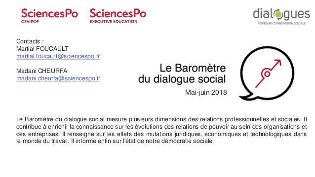 1 ©Ipsos CEVIPOF : Baromètre du dialogue social Mai 2018 Le Baromètre du dialogue social mesure plusieurs dimensions des r...