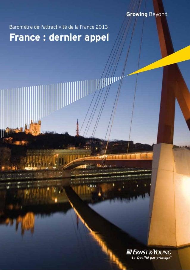 Baromètre de lattractivité de la France 2013France: dernier appelGrowing Beyond