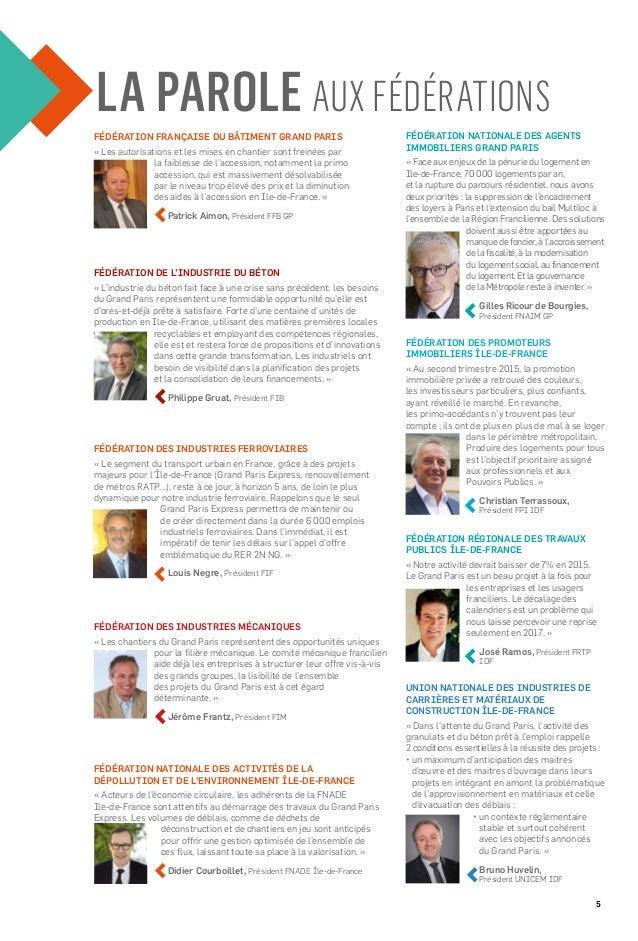 5 FÉDÉRATION DE L'INDUSTRIE DU BÉTON « L'industrie du béton fait face à une crise sans précédent: les besoins du Grand Par...