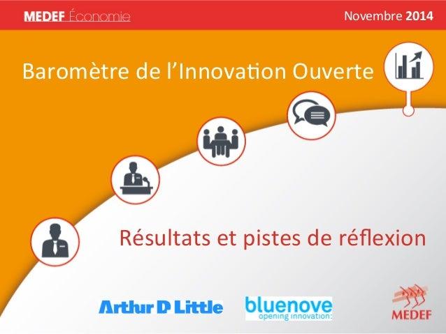 Novembre  2014  Novembre  2014   Baromètre  de  l'Innova2on  Ouverte   Résultats  et  pistes  de  ...