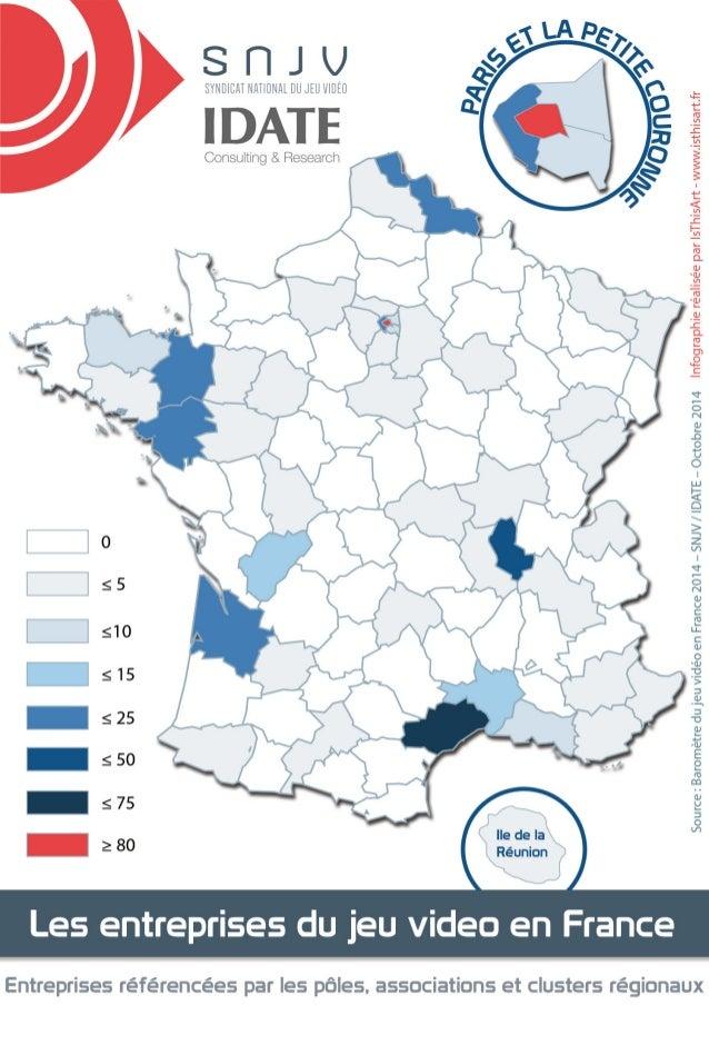 Baromètre des jeux Videos en France 2014 - Emplacement des entreprises