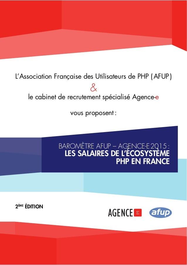 L'Association Française des Utilisateurs de PHP ( AFUP )  &  le cabinet de recrutement spécialisé Agence-e  vous proposent...