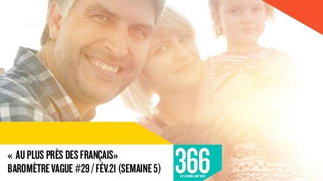 « AUPLUSPRÈSDESFRANÇAIS» BAROMÈTREVAGUE#29/FÉV.21(SEMAINE5)