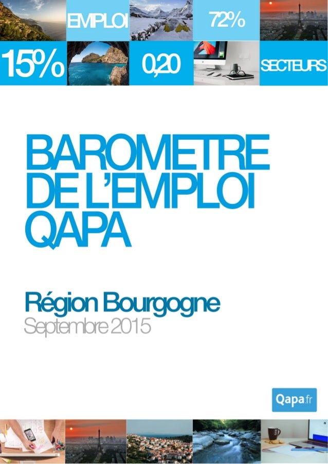 Septembre 2015 - Baromètre de l'emploi en région Bourgogne par Qapa - Tous droits réservés. 1
