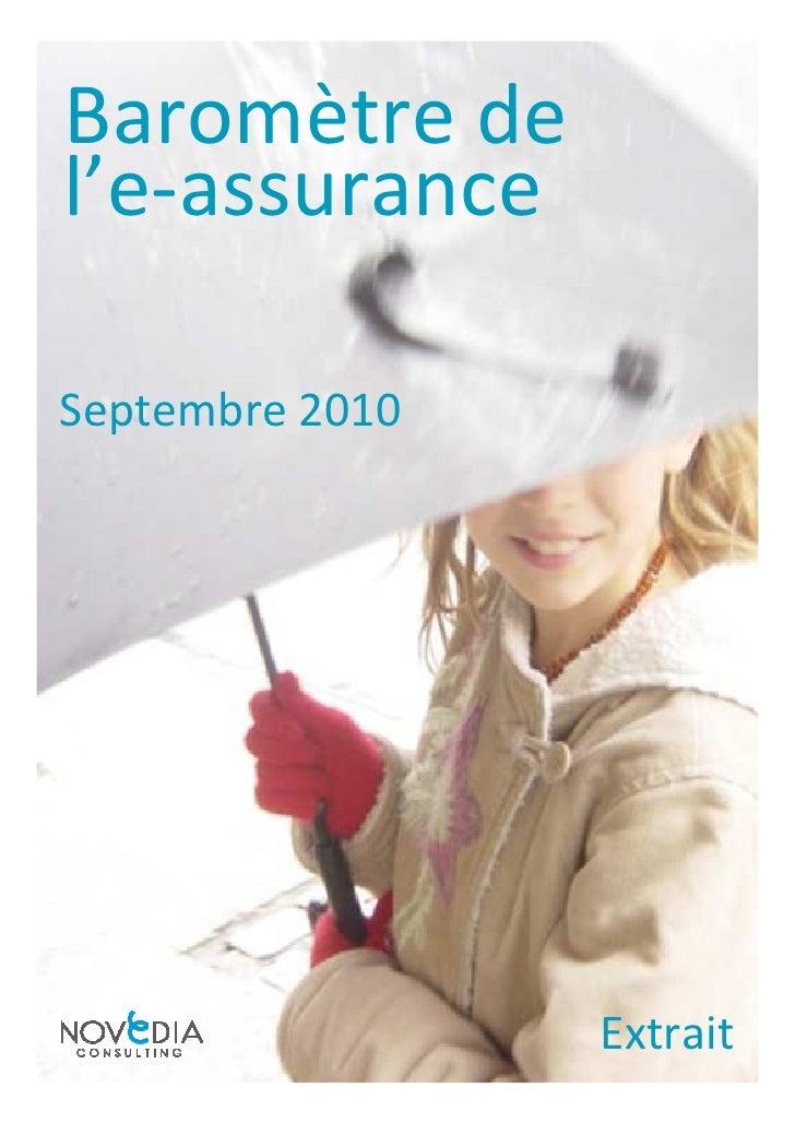 Baromètre de l'e-assurance  Septembre 2010                      Extrait