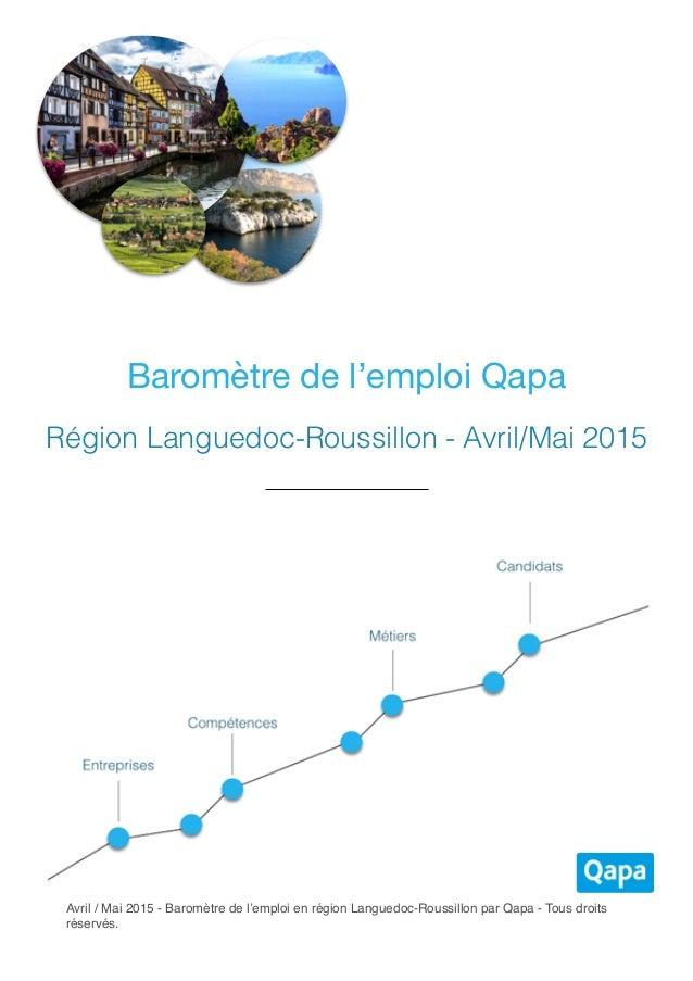 Barom tre de l 39 emploi qapa en languedoc roussillon avril mai 2015 - Cabinet de recrutement languedoc roussillon ...
