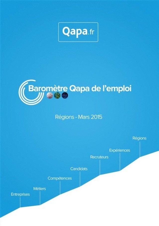 Mars 2015 - Baromètre de l'emploi en région Alsace par Qapa - Tous droits réservés.