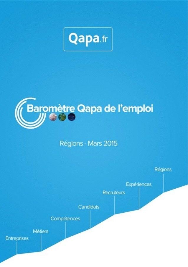 Mars 2015 - Baromètre de l'emploi en région Bretagne par Qapa - Tous droits réservés.