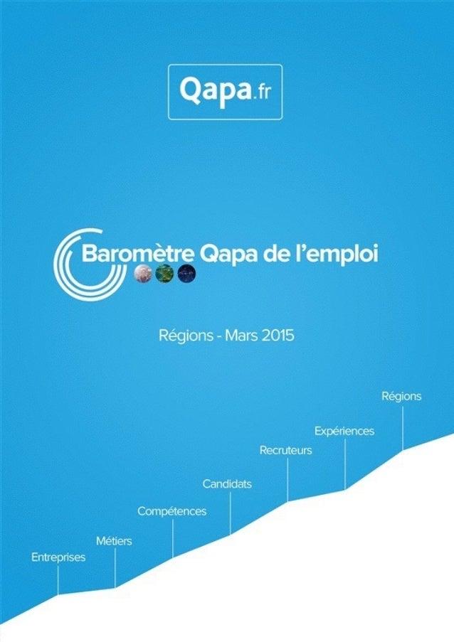 Mars 2015 - Baromètre de l'emploi en région Franche Comté par Qapa - Tous droits réservés.