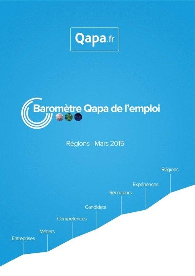 Mars 2015 - Baromètre de l'emploi en région Midi-Pyrénées par Qapa - Tous droits réservés.