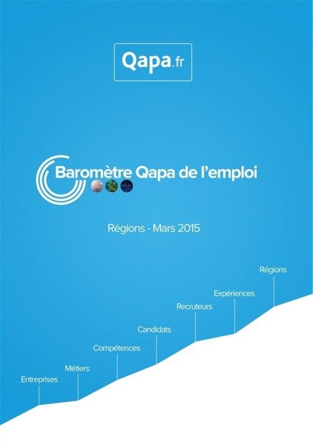 Mars 2015 - Baromètre de l'emploi en région Rhône Alpes par Qapa - Tous droits réservés.