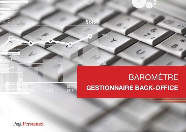 BAROMÈTRE GESTIONNAIRE BACK-OFFICE