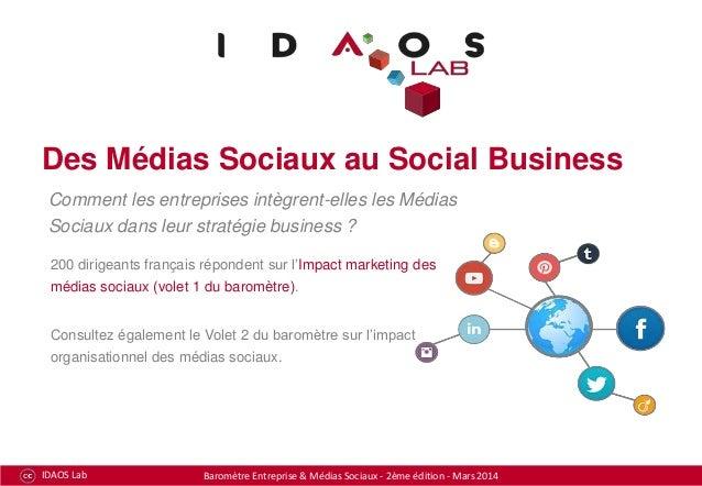 Des Médias Sociaux au Social Business Comment les entreprises intègrent-elles les Médias Sociaux dans leur stratégie busin...
