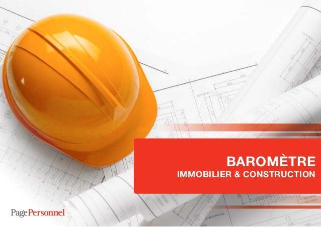 BAROMÈTRE  IMMOBILIER & CONSTRUCTION