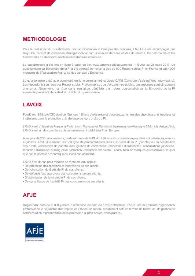 Baromètre De La Pi Résultats Et Analyse 2013