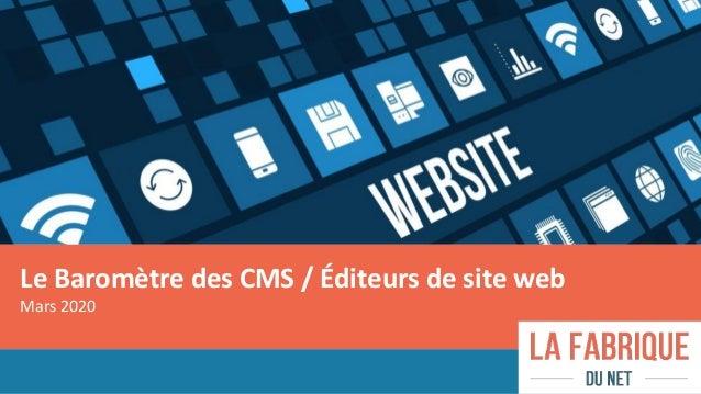 Le Baromètre des CMS / Éditeurs de site web Mars 2020