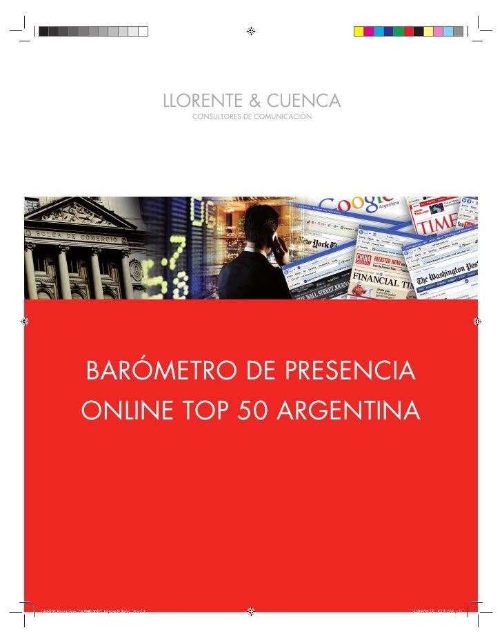 BARÓMETRO DE PRESENCIA ONLINE TOP 50 ARGENTINA