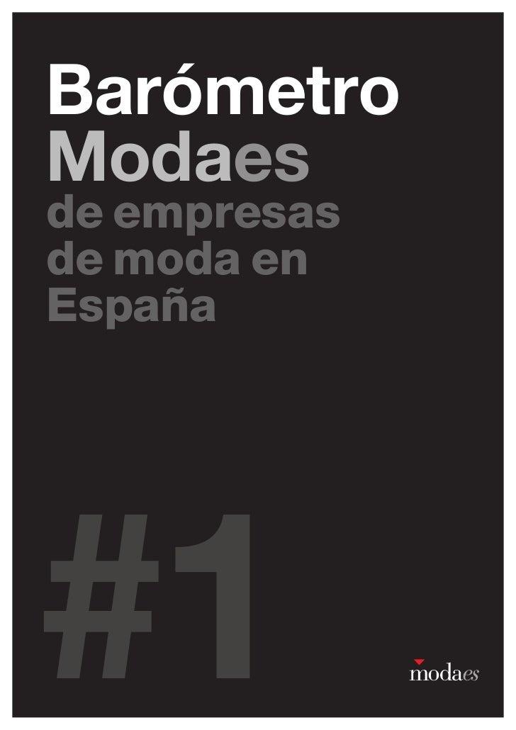 BarómetroModaesde empresasde moda enEspaña#1            1