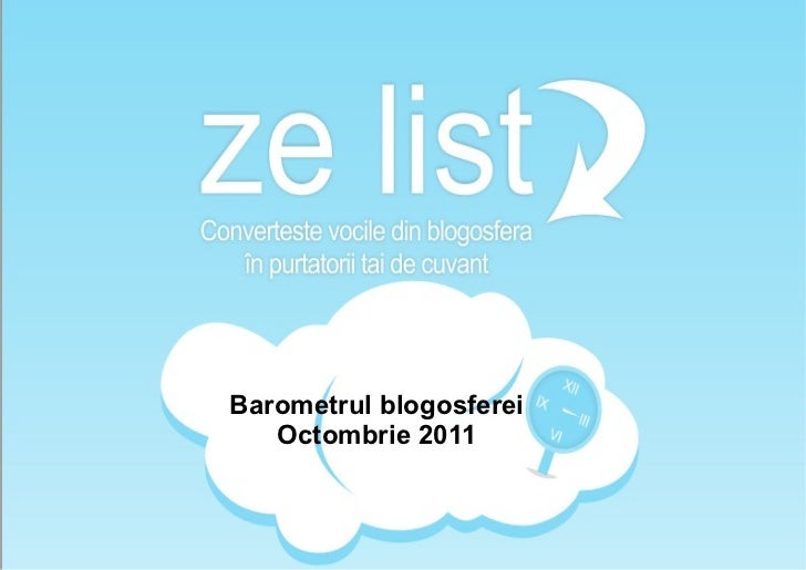Barometrul blogosferei   Octombrie 2011