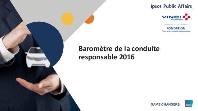 1 Baromètre de la conduite responsable 2016
