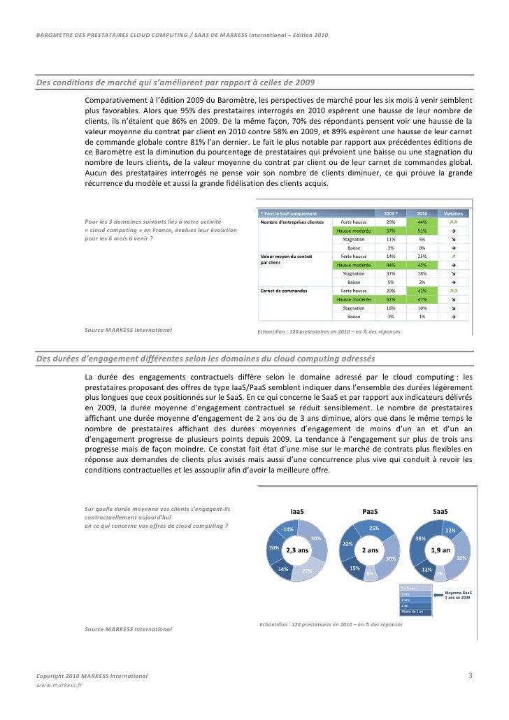 MARKESS MappingLes prestataires de services de cloud computing<br />Le marché des services de cloud computing en France ra...