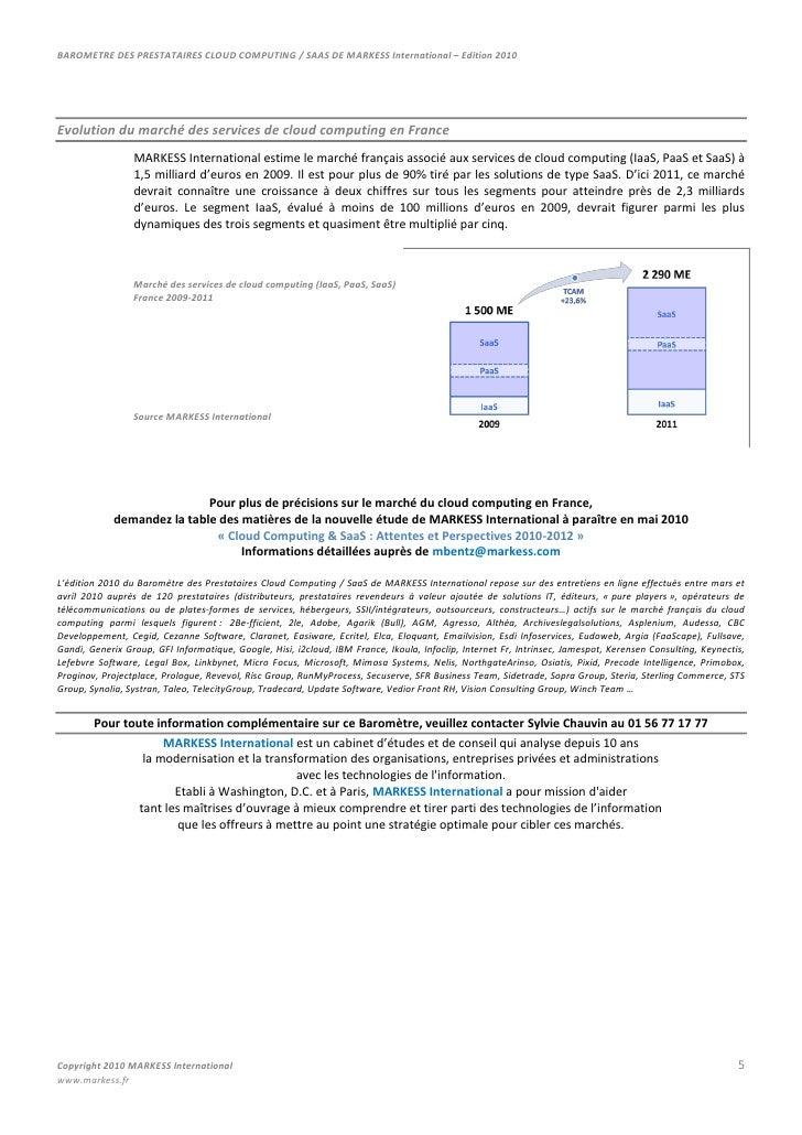 Profils d'acteurs associés au MARKESS Mappingdes prestataires de services de cloud computing<br />Les profils de prestatai...
