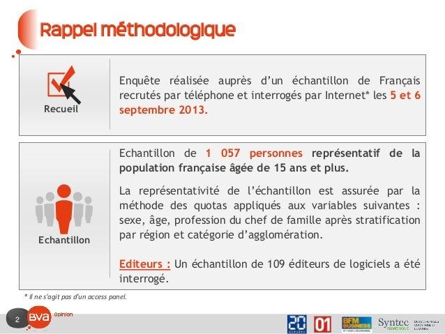 2 Rappel méthodologique Enquête réalisée auprès d'un échantillon de Français recrutés par téléphone et interrogés par Inte...