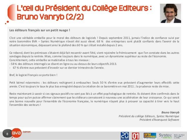 8 L'œil du Président du Collège Editeurs : Bruno Vanryb (2/2) Les éditeurs français sur un petit nuage ! C'est une véritab...