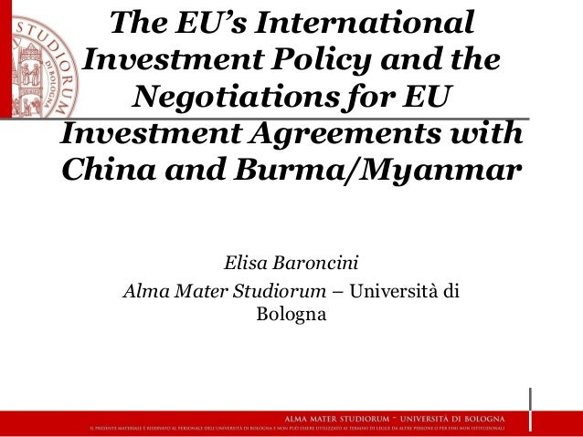 The EuS International Investment Policy And The Negotiations For Eu