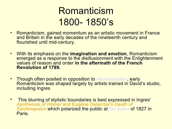 neoclassicism versus romanticism essays Need essay sample on influence of neoclassicism on romanticism we will write a cheap essay sample on influence of neoclassicism on romanticism specifically for you for only $1290/page.